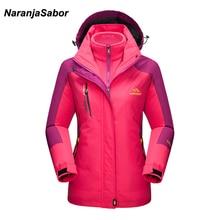 Naranjasabor 2017 Зима Для женщин Куртки Водонепроницаемый Пальто для будущих мам осень ветровка женские пальто из двух частей комплект съемный женская одежда