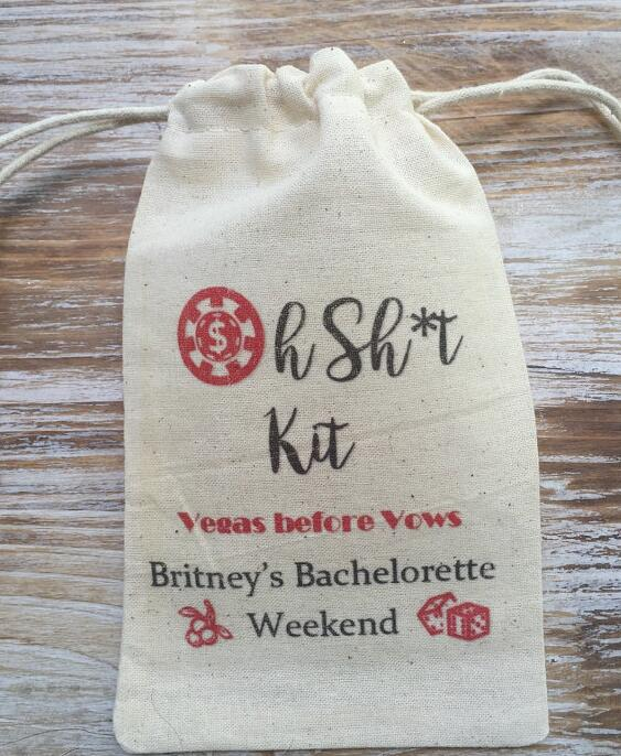Custom Name Las Vegas Wedding Party First Aid Hangover Kit Jewelry Favor Muslin Bags Bachelorette Hen Bridal Shower Favors In Underwear From Mother Kids