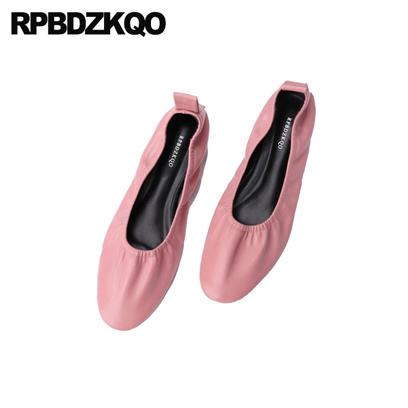 pink round toe 10 flats comfortable