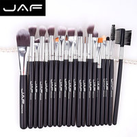 New 20pcs Makeup Brushes Set Black Wooden Handle Cosmetic Powder Foundation Eyeshadow Brush Beginners Beauty Tools
