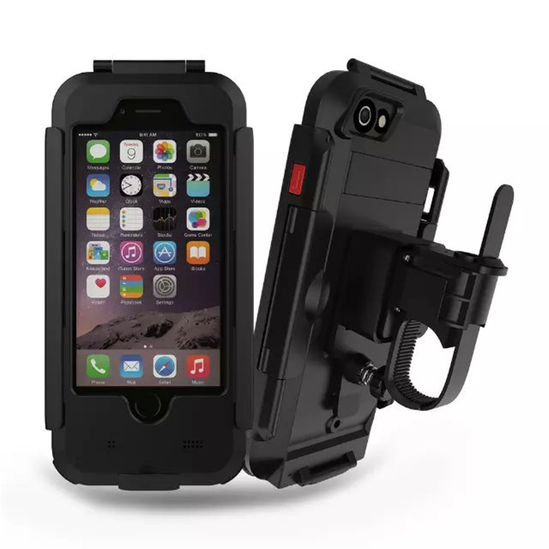 Waterproof Motorcycle Handlebar <font><b>Phone</b></font> <font><b>Holder</b></font> Stand Armor Outdoor Support for <font><b>iPhone</b></font> X 7 6s 8 Plus 5s Bicycle Bike GPS <font><b>Phone</b></font> Bag