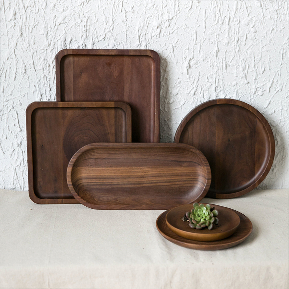 aliexpresscom buy kitchen tableware wooden pallet serving tray decorative trays serving platters for tea coffee wine rectangularsquareoval shape from - Decorative Serving Trays