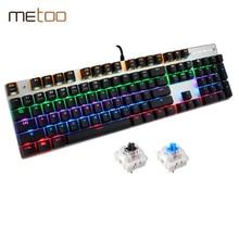 New Rainbow Colorful LED Backlight Mechanical Keyboard Professional Advanced Gaming Keyboard