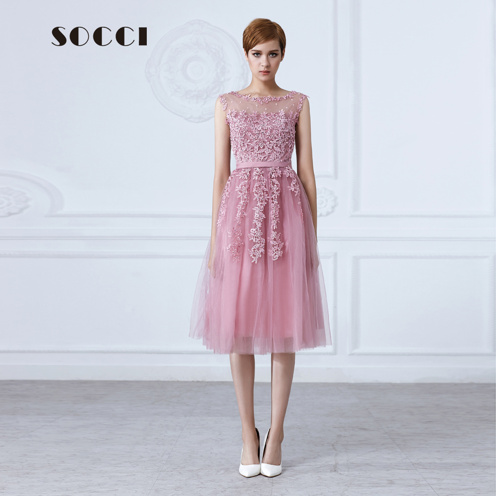 Buy tulle lace appliques short cocktail for Wedding cocktail party dresses