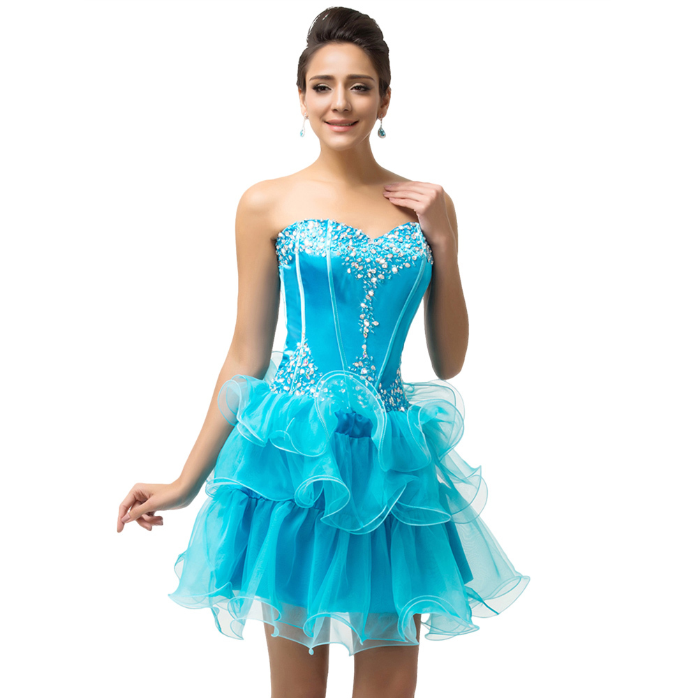 Grace Karin Sweetheart Beaded and Sequins Organza Prom Dresses ...