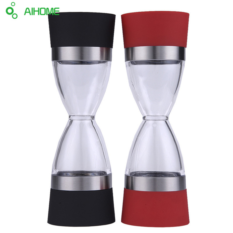 High Quality Stainless Steel Manual Salt Pepper Mill Grinder Grind 2 In 1 Ceramic CorePortable Kitchen Mill Muller Tool