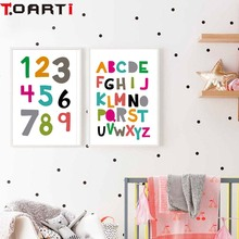 Abc Alphabet Chart Kids Education Poster Yoga Wall Art Print Canvas Painting For Room Educational Decoration Home Decor