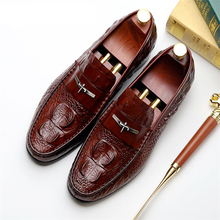Mens Casual genuine leather flats loafers for men comfortable business casual brown black pea boat man shoes CY335-2