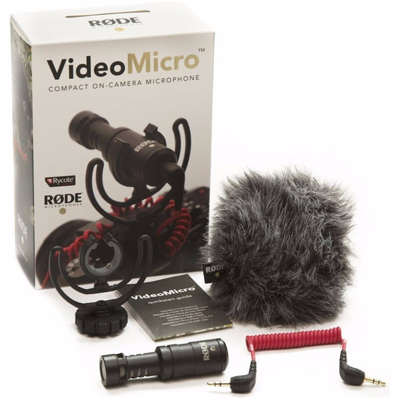Rode VideoMicro Compact On-Camera Recording Microphone for Canon Nikon Lumix Sony DJI Osmo DSLR Camera Microfone boya by wm5 by wm6 camera wireless lavalier microphone recorder system for canon 6d 600d 5d2 5d3 nikon d800 sony dv camcorder