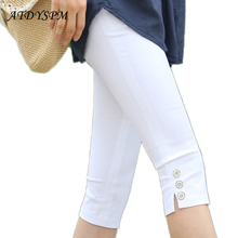 Women's Pencil Pants Capris 2017 New Fashion Plus Size M-4XL Summer Slim High Stretch Sexy Casual Pants Leggings For Women