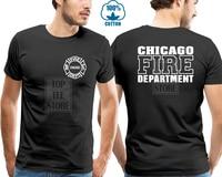 Горячая Распродажа Мужская футболка модная Chicago Fire beads Мужская футболка на заказ Мужская черная футболка Летняя футболка