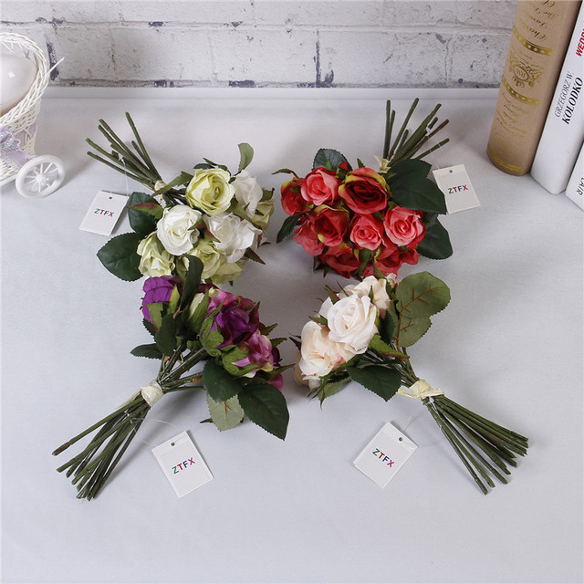 Artificial Rose flower bouquets flower flower shop flowers birthday ...
