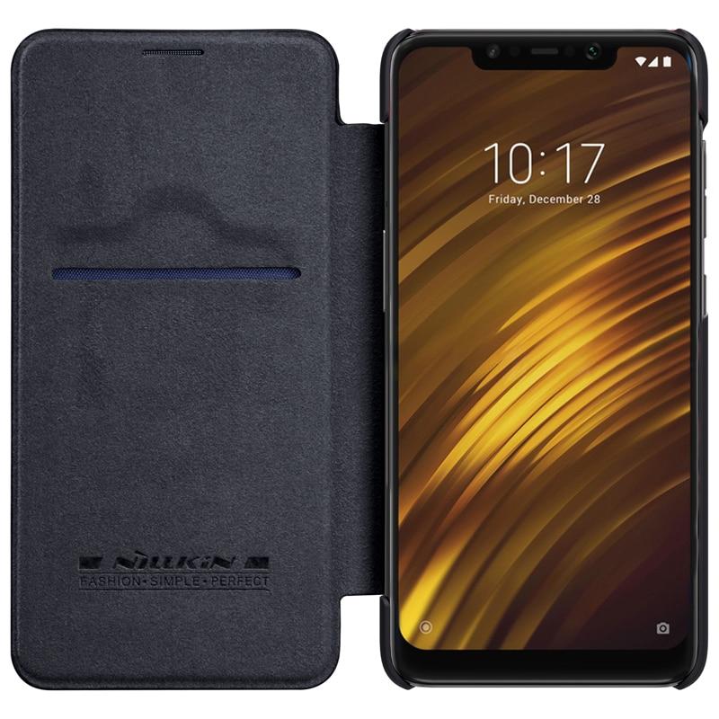 Xiaomi POCOPHONE F1 fall POCO F1 abdeckung Nillkin QIN leder Fall Karte Tasche brieftasche tasche schutz flip-cover smart wake up schlaf