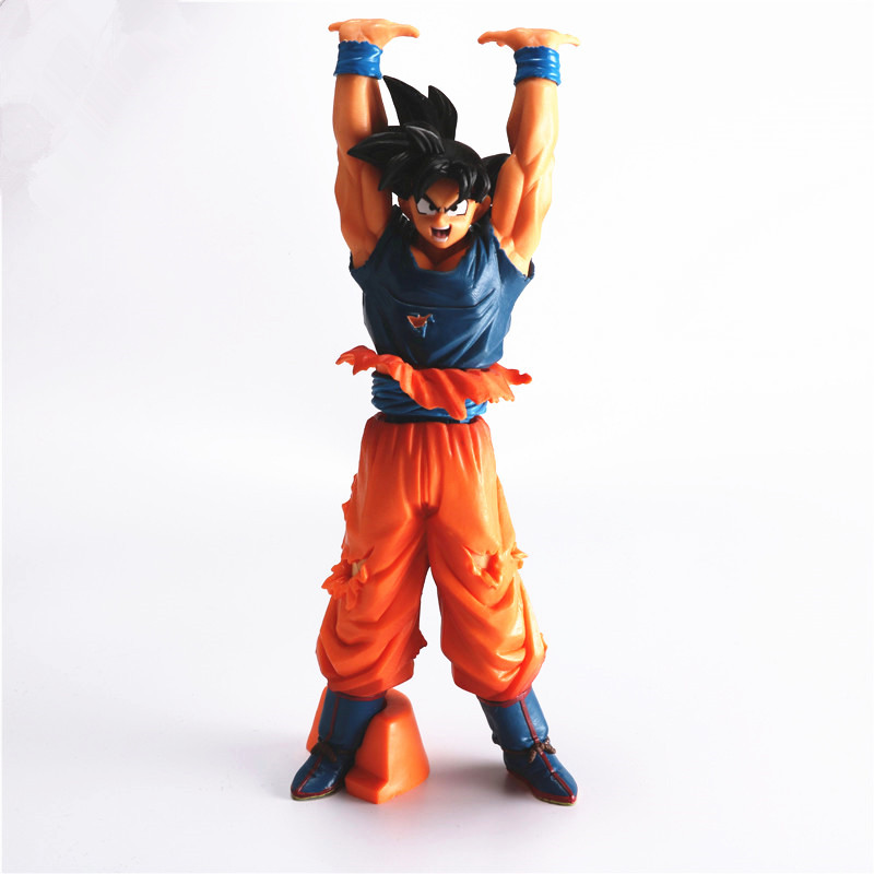 24CM PVC Dragon Ball Z Action Figure Toy, Son Goku Spirit Bomb Anime Figures, Collectable Model, Kids Toys, Brinquedos anime dragon ball z toy figure goku figures son goku pvc action figure chidren favorite gifts 15cm approx retail shipping