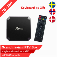 Nordic Sueca X92 16 GB Rom caixa de tv android Árabe IPTV Escandinavo IPTV caixa smart tv iptv TV IP VOD assinatura Espanha Israel