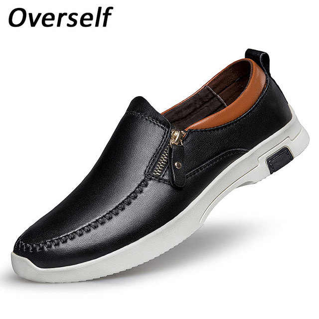 b773ce898ebe23 New Fashion Formal Mens Dress Shoes Italian designer genuine leather black  luxury Brand shoes men flats office for male 2017