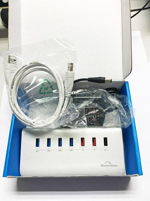 Быстрая Зарядка USB 3.0 HUB USB Hub Разветвитель для ПК Компьютер Ноутбук Периферия Аксессуары