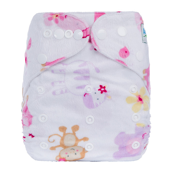 Affordable Children Minky Cloth Nappies Reusable & Washable Baby Cloth Diaper With Generous Pocket Double Row Waist D Series