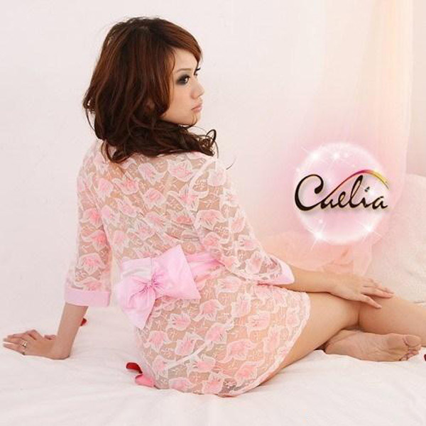 Porn Transparent Pink Lace Japan Short Kimono Style Sexy Lingerie Womens Erotic Seduction Sex Bathrobe Sauna Suits For Lovers In Babydolls Chemises From