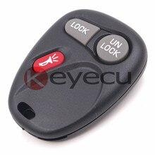 Keyecu Keyless Entry Remote Car Key 3 Button for GMC Chevrolet FCC ID:KOBUT1BT Part# 15732803