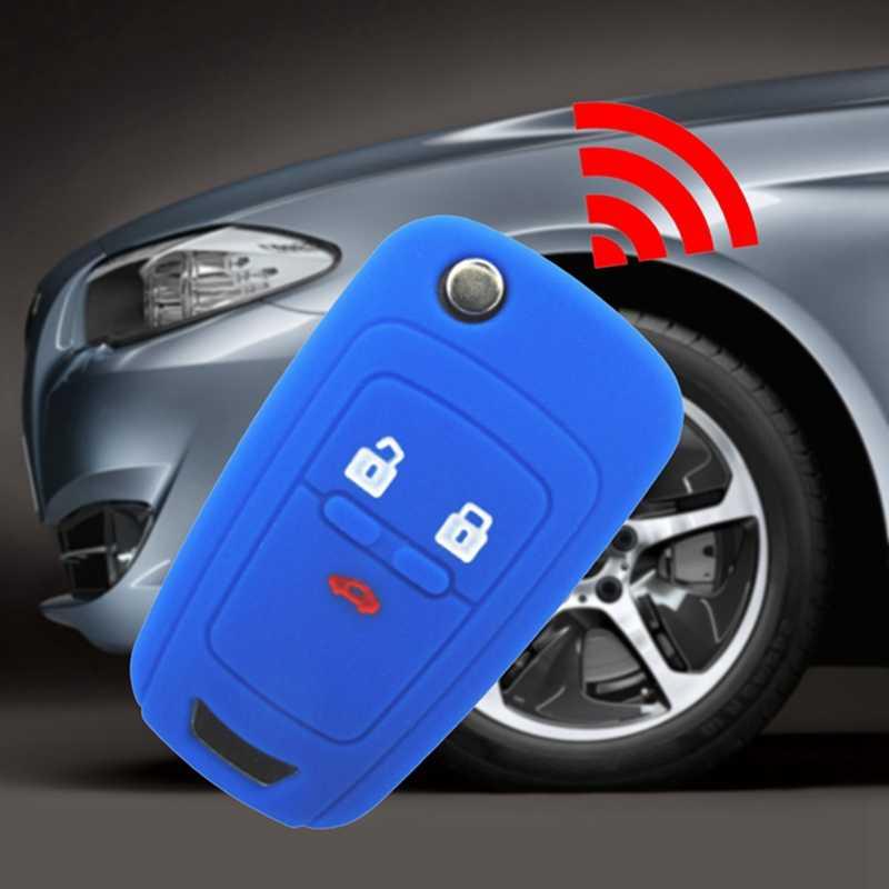Nouveau couvercle de clé de voiture en silicone chaud 3 boutons pour Chevrolet Cruze 2009-2014 berline accessoires à hayon etui clés de voiture