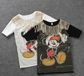 Womens Loose Summer Mid-Long Tees Tops Sequins Cartoon Characters Casual Appliques Blusas Femininas Harajuku T shirt NS140