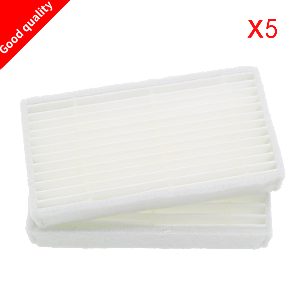 5pcs Vacuum Cleaner Filters HEPA Filter for CHUWI V3 iLife X5 V5 V3+ V5PRO ECOVACS CR130 cr120 CEN540 CEN250 ML009 Cleaner Parts replacement hepa filter 80mm 40mm 15mm for cr120 cen540 cen250 x500 x580 kk8 robot vacuum cleaner hepa filter parts