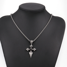 Men's Stainless Steel Choker Cross Pendant Chic Necklace gros collier Beauty Statement Jewelry Gift Hot