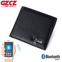 Free engraving Smart Wallet Men Genuine Leather High Quality Anti Lost Intelligent Bluetooth Purse Male Card Holder Dropshopping