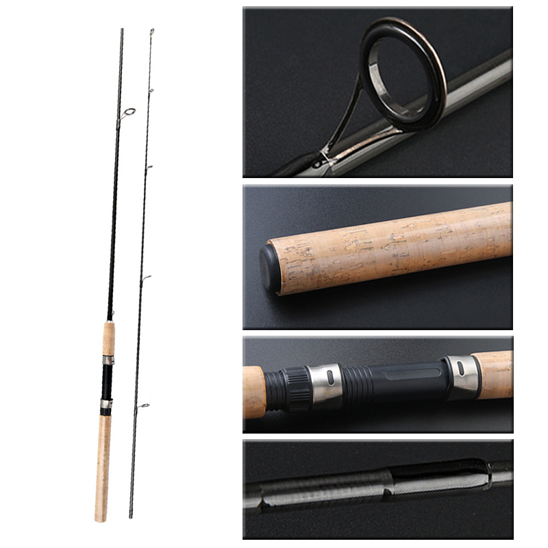 Image 3 - KASSYAA Carbon Spinning Fishing Rod 1.8m 2.1m 2.4m 2.7m 3m Superhard Tackle Lure Rods Fishing Pole 2 Sections Feeder For Fishing-in Fishing Rods from Sports & Entertainment