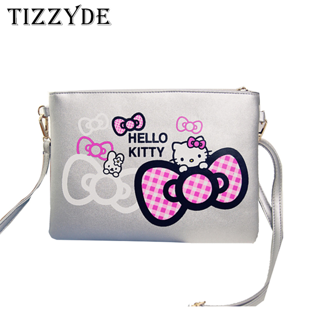 a02e290a3 Women Messenger Bag 2017 Cartoon Clutch Bag Hello Kitty Crossbody Bag  Fashion Women Shoulder Bags Simple Handbags CCN801