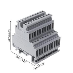 Image 4 - UKK3 dinレールダブルレベルデュアル行端子台 500v 25A 28 12AWGグレー 50 個