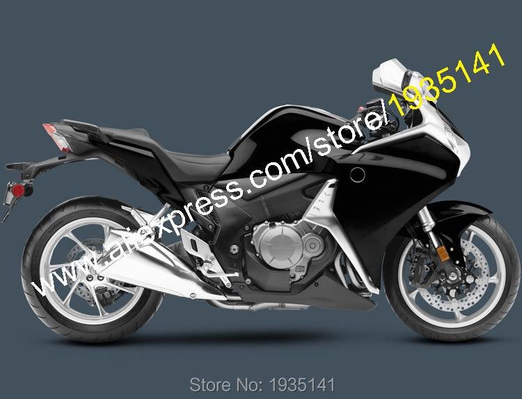 Горячие продаж,для Honda VFR1200 2010 2011 2012 2013 ВФР 1200 10 11 12 13 Черное послепродажного мотоциклов Обтекателя (литья под давлением)