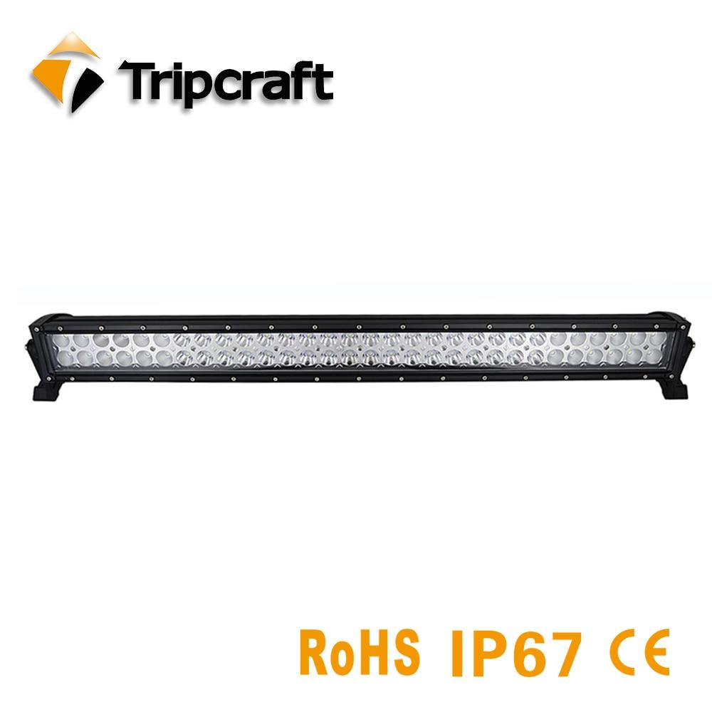 TRIPCRAFT 180 Вт светодиодный свет работы бар для внедорожных автомобилей тягач 4x4 внедорожник Epistar rampe 12 В 24 В комбо луч Авто Вождение Противотума...