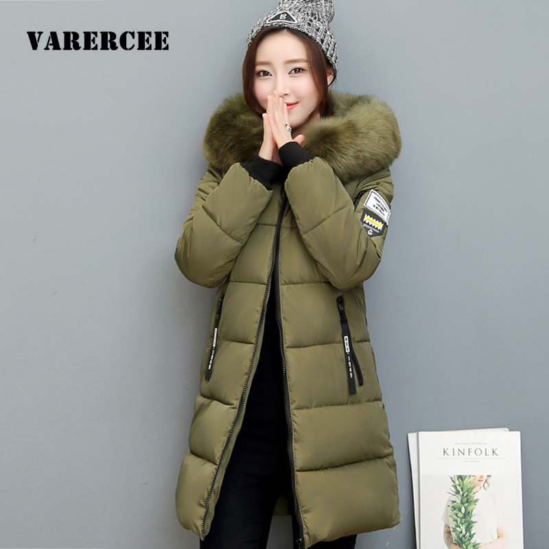 Women Winter Coat Jacket Warm Woman Parkas Female Overcoat High Quality Hooded Cotton Jacket Coats 2017 New Winter Long parkas women winter coat leisure big yards hooded fur collar jacket thick warm cotton parkas new style female students overcoat ok238