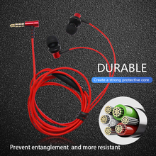 3.5mm Sport Gaming Headset wired headset microphone Earbuds Bass Earphones  For Smartphones with mic