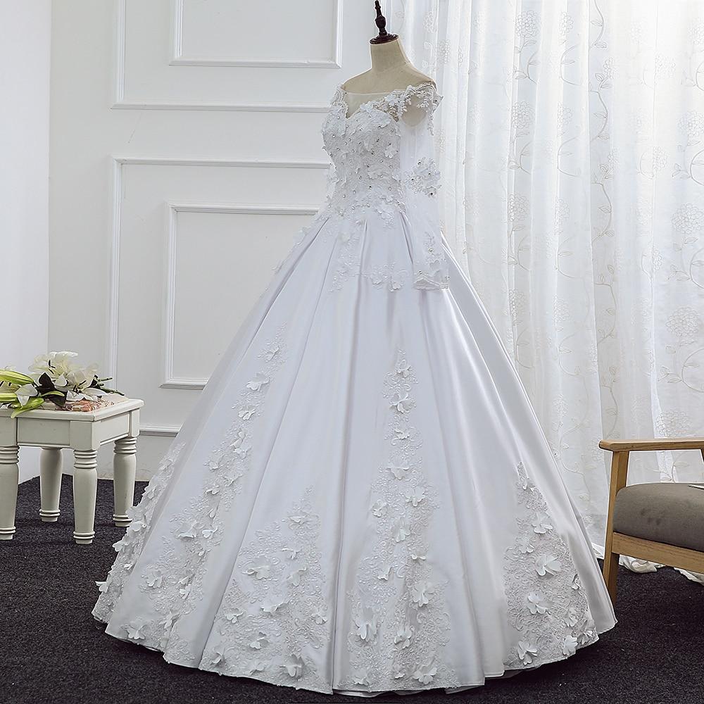 Vestido De Noiva China Brautkleider Satin Günstige Vintage Neueste ...