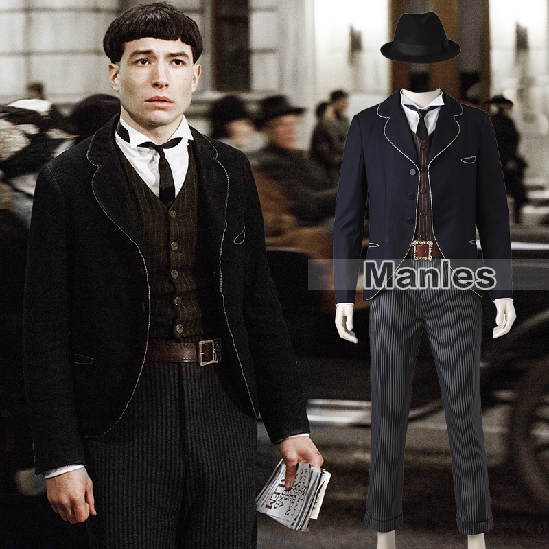 Credence Barebo Costume Fantastic Beasts and Where to Find Them Costume Cosplay Magical Wizard Suit Adult Men Halloween Outfit