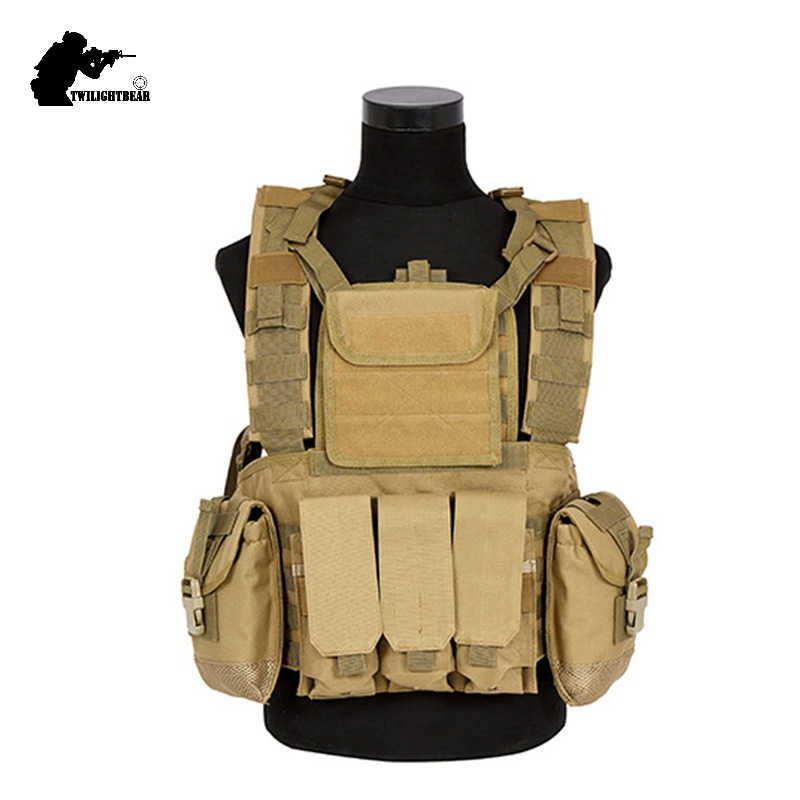 Military RRV Tactical Vest High Quality 600D Nylon Molle System CS Printball Protective Vest Police Protective