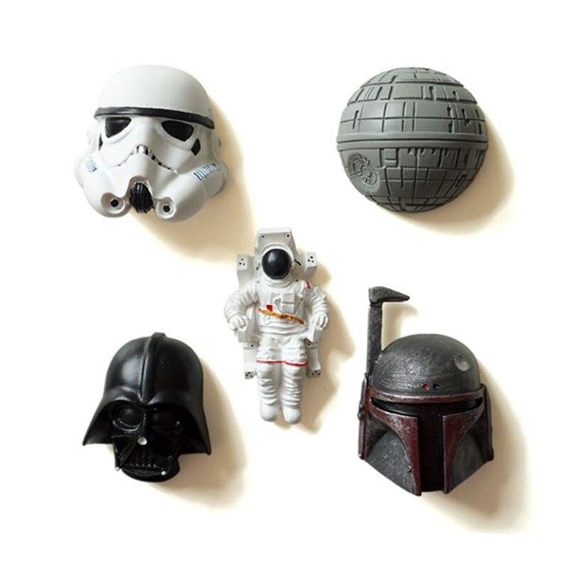 1 Pz Vendita Calda Di Nuovo Arrivo Di Star Wars Cartoni Animati In Resina Frigo Magneti Souvenir 3d Decorativo Frigorifero Adesivi Magnetici Per Bambini Una Custodia Di Plastica è Compartimentata Per Lo Stoccaggio Sicuro