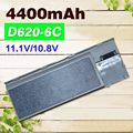 4400mAh  Laptop Battery For  Dell Latitude D620 D630 D631  M2300 KD491 KD492 KD494 KD495 NT379 PC764 PC765 PD685 RD300  TC030