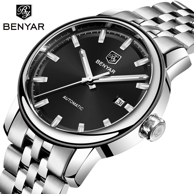 Marca de Topo Relógio de Luxo Relógio de Pulso Benyar Relógios Masculinos Masculino Automático Mecânico Homem Reloj Hombre