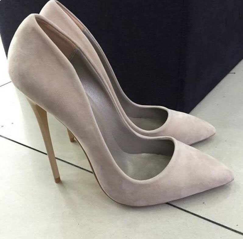 Hot selling high heel suede pumps pointed toe slip-on stiletto heels women shoes woman spring autumn single shoes woman siz womens shoes high heel woman pumps spring autumn basic silk slip on pointed toe thin heels sexy wedding shoes ljx04 q