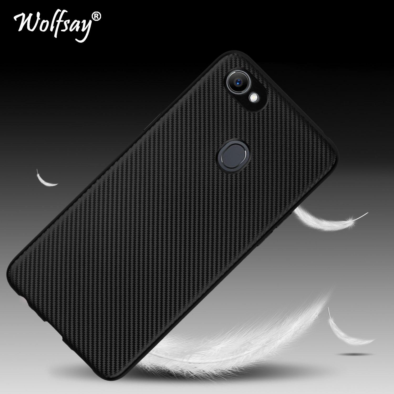 Phone Case OPPO F7 Case OPPO F 7 CPH1819 Luxury New Carbon Fiber Soft TPU Cover