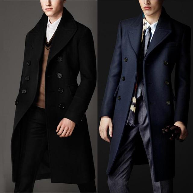 Custom Sizes Luxury British Style 80% Cashmere Overcoat Male ...