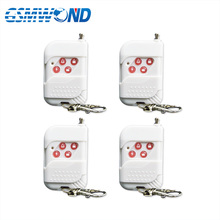 4pcs White 433mhz wireless remote control 2 year warranty for GSM alarm system for Home security