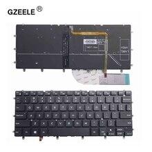 GZEELE retroiluminado EUA teclado do portátil para DELL Inspiron XPS 15 13 7000 7347 7348 7352 7353 7359 7547 7548 9343 9350 9360 N7548 preto
