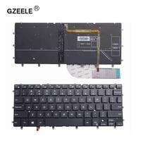 Gzeele США подсветкой Клавиатура для ноутбука dell inspiron xps 13 7000 7347 7348 7352 7353 7359 15 7547 7548 9343 9350 9360 N7548 черный
