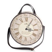 Vintage Round Clock Designer Bag Japan Lolita Style 3 Ways Shoulder Lady Girls Alice Handbag Back pack