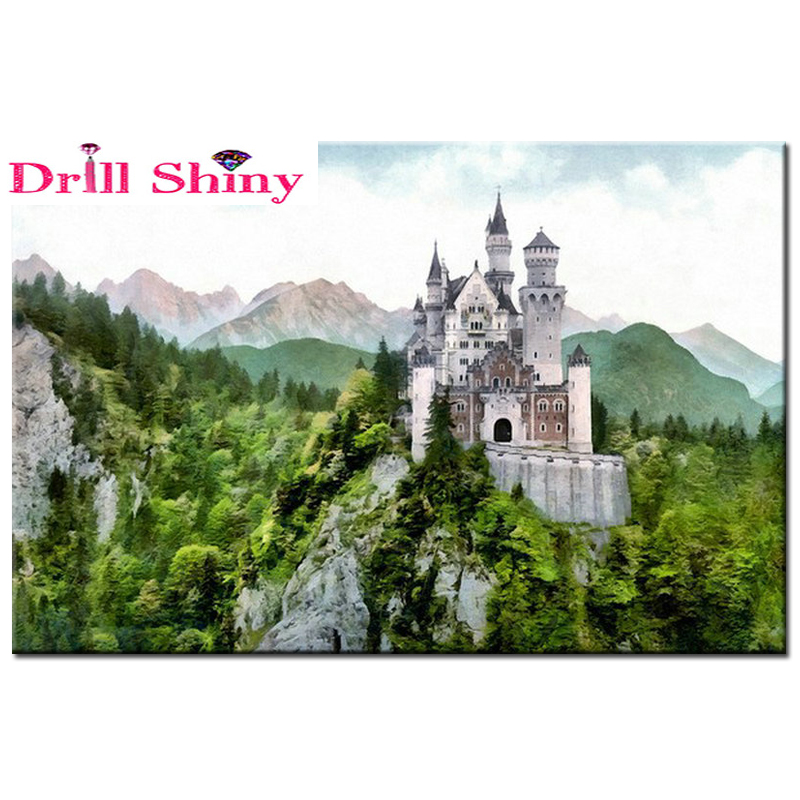 Diamond Embroidery landscape pattern 5D DIY Diamond Painting castle picture Square Full Diamond Mosaic Cross Stitch Kits